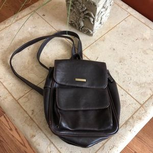 90s vintage faux leather backpack purse